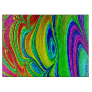 Rainbow 3D glass cutting board