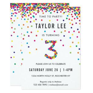 3 Year Old Birthday Invitations Zazzle Uk