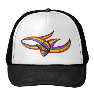 Rainbow # 4 Tattoo Cap