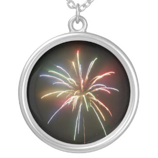 rainbow 4th of July fireworks Necklace