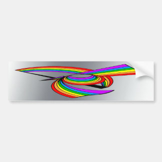 Rainbow # 5 Tattoo Car Bumper Sticker