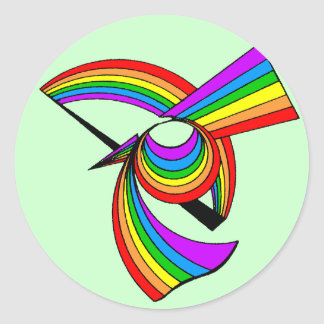 Rainbow # 5 Tattoo Stickers