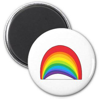 Rainbow 6 Cm Round Magnet