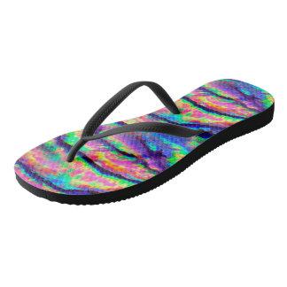 Rainbow Abalone Flip Flops