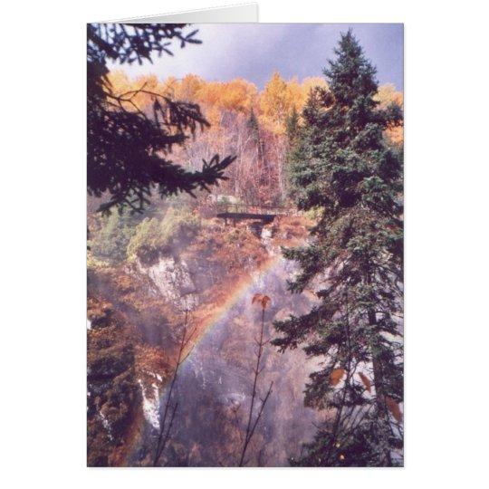 """Rainbow Above the Falls"" Card"