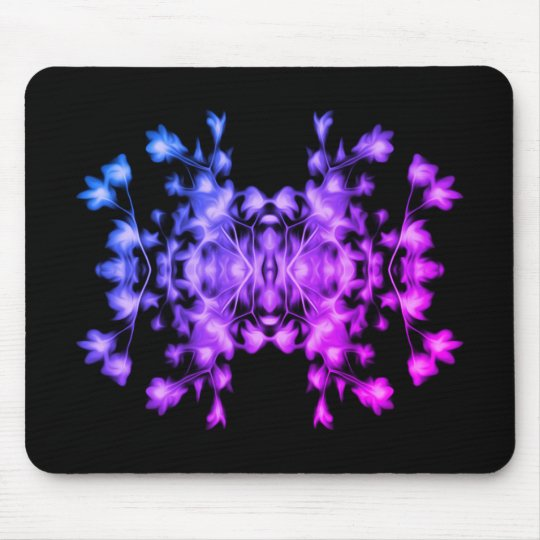 Rainbow Abstract Floral Graphic Pattern Mouse Mat