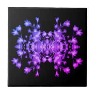 Rainbow Abstract Floral Graphic Pattern Tile