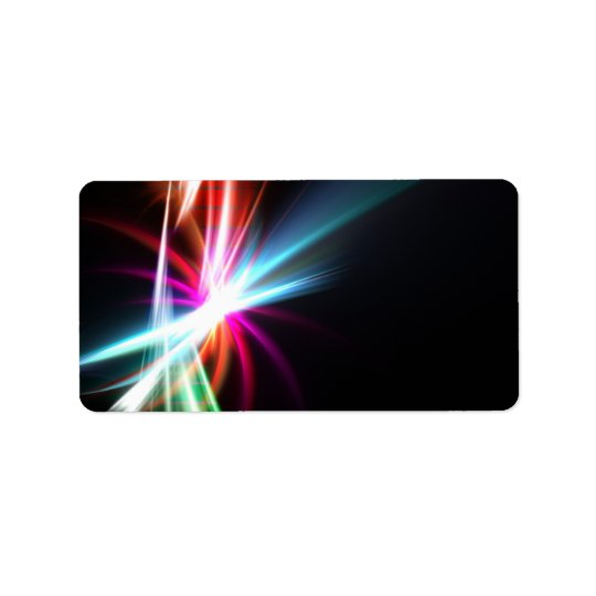 Rainbow Abstract Fractal Address Label