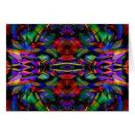 Rainbow Abstract Fractal Art Card