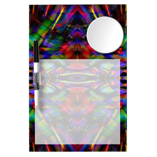 Rainbow Abstract Fractal Art Dry Erase Board With Mirror