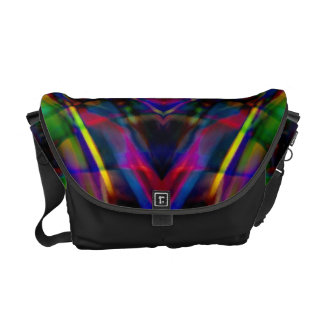 Rainbow Abstract Fractal Art Courier Bags