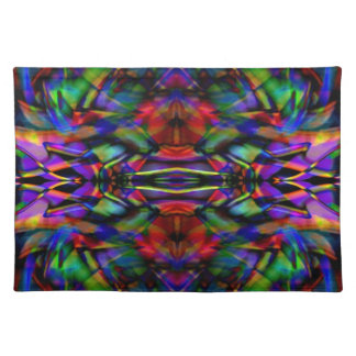 Rainbow Abstract Fractal Art Placemat