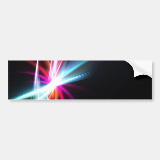 Rainbow Abstract Fractal Bumper Sticker
