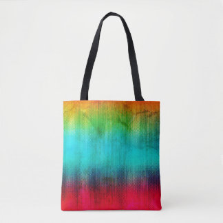 Rainbow Abstract Grunge Tote Bag