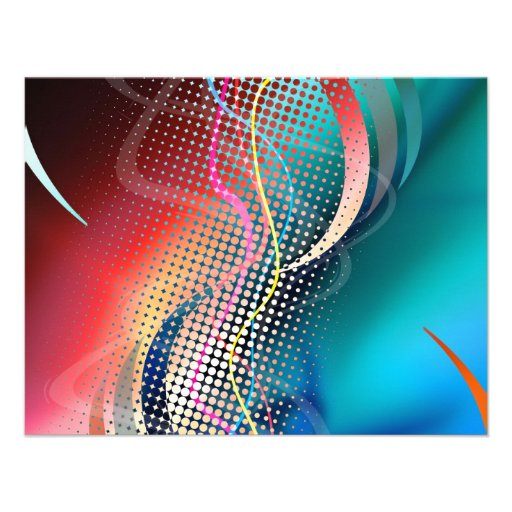 Rainbow Abstract Halftone Design Personalized Invitation