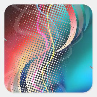 Rainbow Abstract Halftone Design Sticker