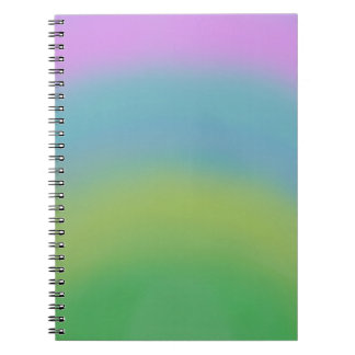 Rainbow Abstract, Original Art, Organizer Notebook