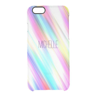 Rainbow Abstract Stripe Brush Strokes with Name iPhone 6 Plus Case