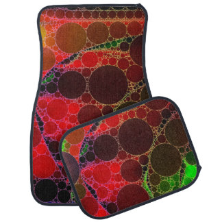 Rainbow Abstract unique Car Mat