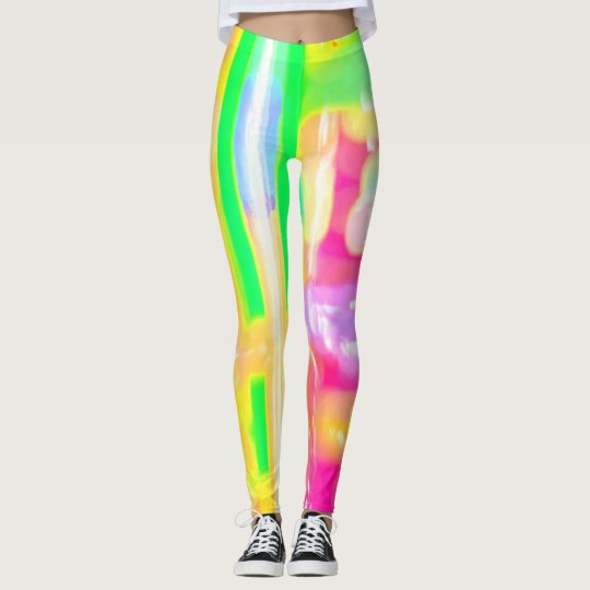 Rainbow Abstract Wild Colours Leggings Yoga Pants