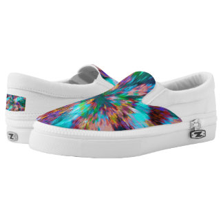 Rainbow Abstract Zipz Slip On Shoes Printed Shoes