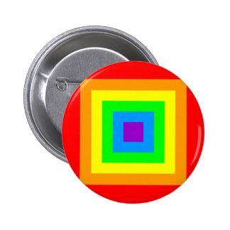 Rainbow Acid Squares Pinback Buttons