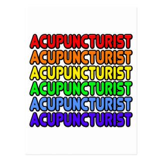 Rainbow Acupuncturist Postcard