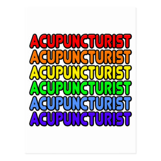 Rainbow Acupuncturist Post Card