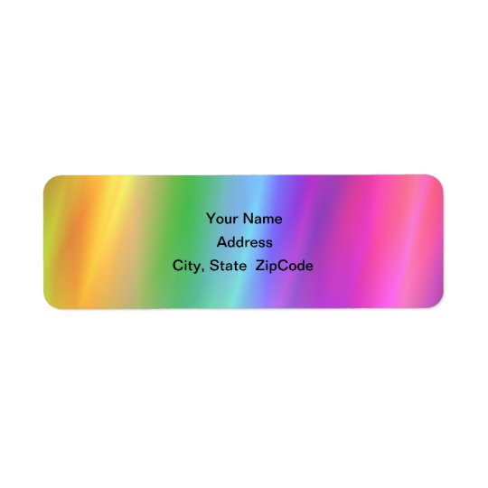 Rainbow Address Avery Label