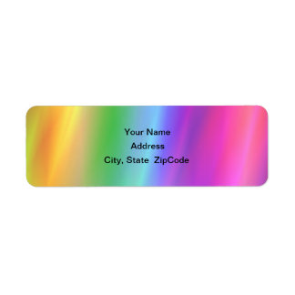 Rainbow Address Avery Label Return Address Label