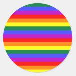 Rainbow Adesivos Em Formato Redondos