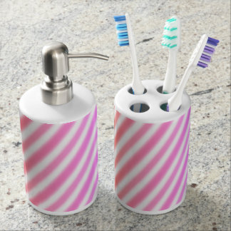 Rainbow Airbrush Stripes - Bathroom Set
