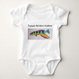 Rainbow Airplane Baby Jersey Bodysuit