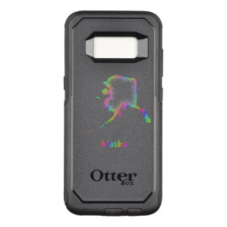 Rainbow Alaska map OtterBox Commuter Samsung Galaxy S8 Case