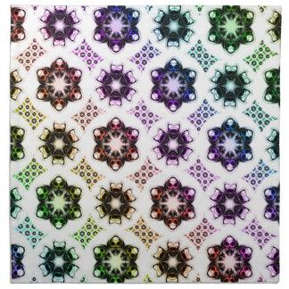 Rainbow Alien Eye Fractal Art Pattern Napkin