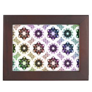 Rainbow Alien Eye Fractal Art Pattern Keepsake Boxes
