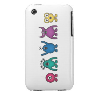 Rainbow Alien Monsters iPhone 3 Cover
