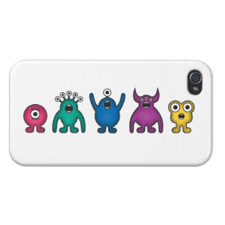 Rainbow Alien Monsters Case For The iPhone 4