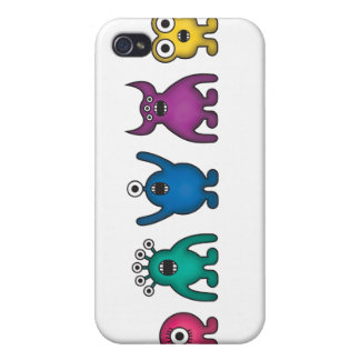 Rainbow Alien Monsters Cover For iPhone 4