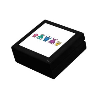 Rainbow Alien Monsters Gift Box