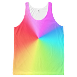 Rainbow All-Over Print Tank Top