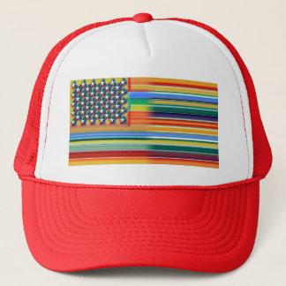 Rainbow America Trucker Hat