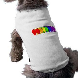 Rainbow American Eskimo Dog Tee Shirt