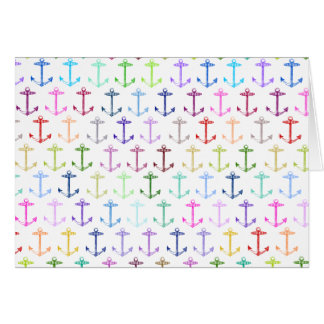 Rainbow anchor pattern card