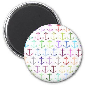 Rainbow anchor pattern magnet