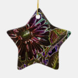 Rainbow and Black Dahlia Christmas Ornament