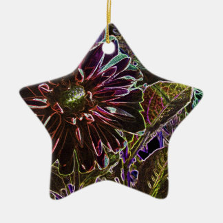 Rainbow and Black Dahlia Christmas Ornament