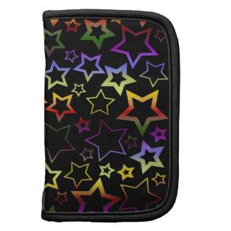 Rainbow and Black Stars Pattern Folio Planners