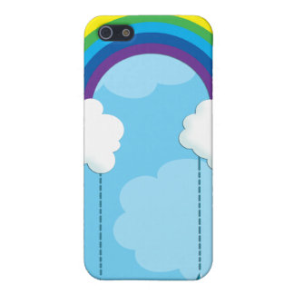 Rainbow and clouds raining stars iPhone 5 cases
