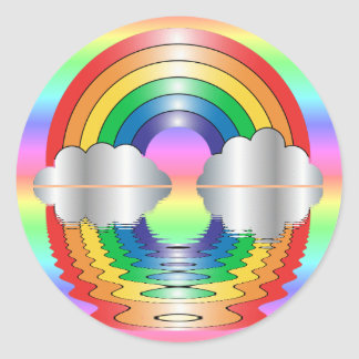 Rainbow and Clouds Reflection Stickers
